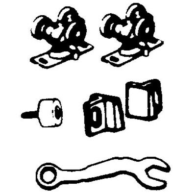 Pocket Door Hardware Set,No 1500PPK3,  L E Johnson