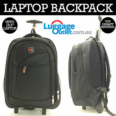 "Laptop Notebook Backpack with Trolley Travel Luggage takes upto 15.6"" laptop"