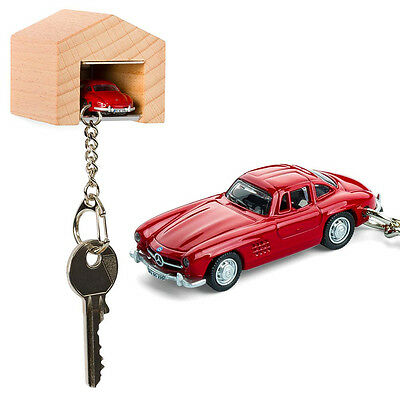 NEW Mercedes-Benz 300 SL & beech wood garage key ring by The Design Gift Shop