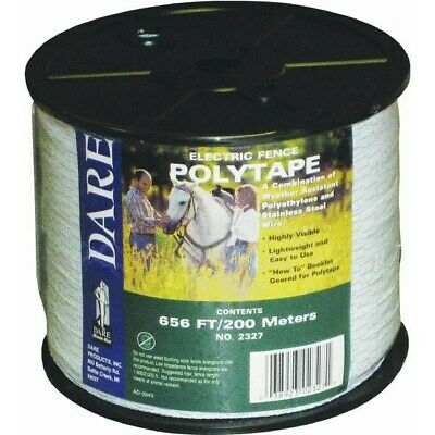 Electric Fence Poly Tape,No 2327,  Dare Products Inc
