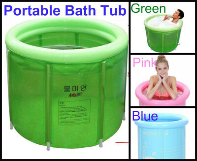 High Quality Portable Foldable Bathtub Bath Hot Tub Bathroom Pink Outdoor Adult