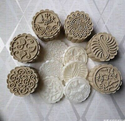 7 pcs set Moon cake mould plastic press Chrysanthemum leaf oriental sunflower