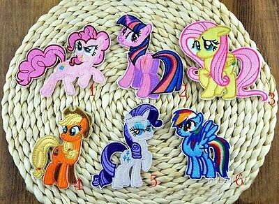1 x Embroidered Iron on Patch My Little Pony Brand New Sew On transfers