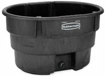 70GAL BLK Stock Tank,No 4244-00-BLA,  Rubbermaid Commercial Prod