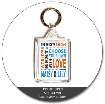 WORLD'S BEST Personalised Gift Photo Keyring With Custom Message