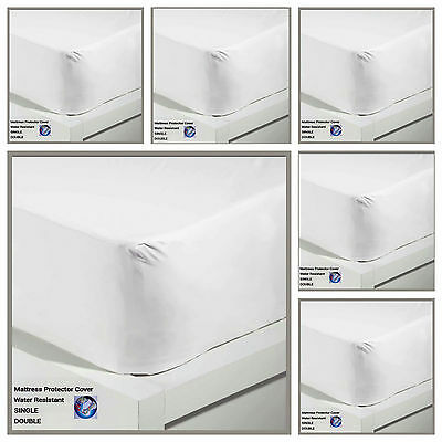 New Water Resistant Non Allergenic Mattress Protector Cover  Single Double