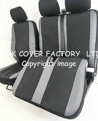 Vw Transporter T5 2001-2013  Van Seat Covers Red Leatherette P100Rd