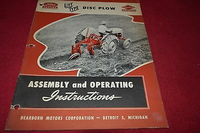 Ford Tractor Disc Plow Operator's Manual DCPA5