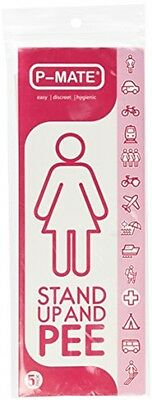 P-Mate Travel Urination Female Women Urinal Camp Toilet Urine Device Pee 5 Pcs