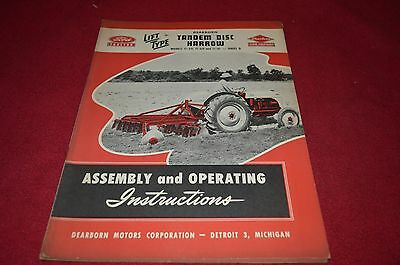 Ford Tractor Series D Disc Harrow Operator's Manual DCPA5