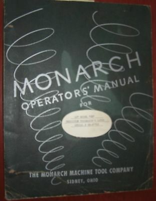 Monarch 10EE Operator's Manual @ 1953
