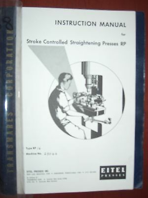 Eitel RP-16 Instruction Manual