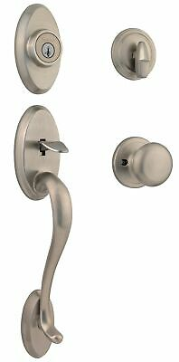 Signature Series Shelburne Entry Handleset,No 800SEXJ 15 SMT CP,  Kwikset