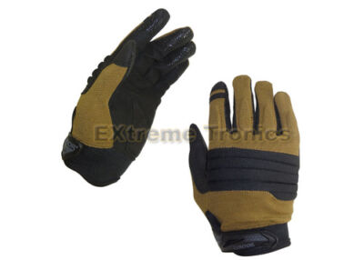 CONDOR Black Tan XL STRYKER Police SWAT Tactical Padded Knuckle Gloves X-Large
