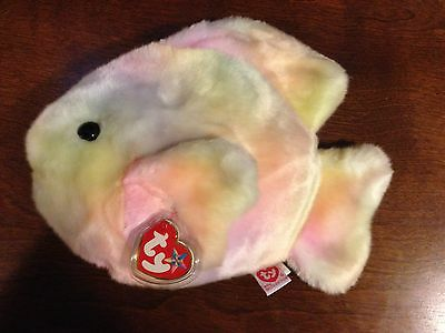 Retired Ty Beanie Buddy Coral The Fish  Mint With Tags