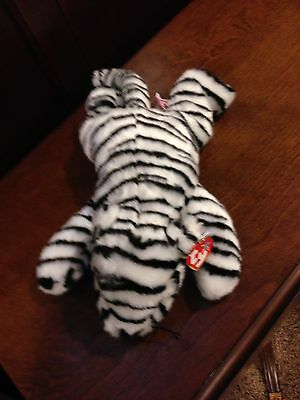 Retired Ty Beanie Buddy White Tiger  Mint With Tags
