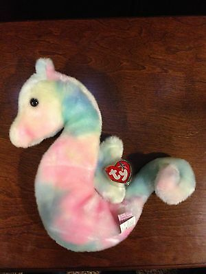 Retired Ty Beanie Buddy Neon The Seahorse  Mint With Tags