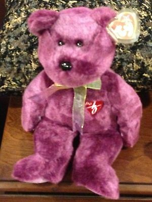 Retired Ty Beanie Buddy 2000 Signature Bear  Mint With Tag