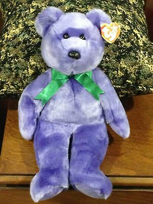 Retired Ty Beanie Buddy Employee Bear  Mint With Tag