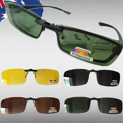 Clip on Sunglasses UV400 Night Vision Yellow Black Polarized Glasses JGLA04