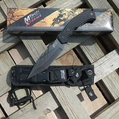 """NEW! 11"""" Mtech Xtreme Stonewash G10 Full Tang Tactical Defense Fixed-Blade Knife"""
