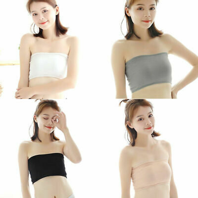 39e66d82c8a88 Womens Sexy Strapless Bra Bandeau Tube Top Seamless Stretch Bras Crop Hot