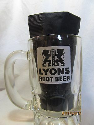"Lyons Root Beer 5"" Tall Heavy Glass Mug (Also See A & W Mugs)"