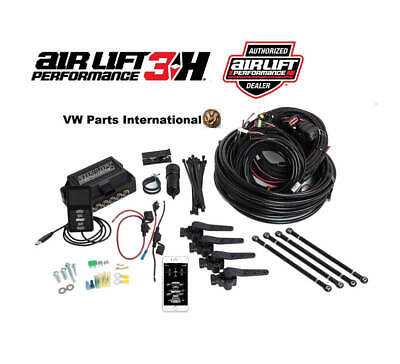 "Air Lift Performance 3H Manifold Controller Looms Kit + 1/4"" Air Line No Tank..."
