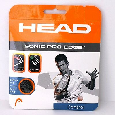 Original 12m (0,83€/lfd. m) HEAD SONIC PRO EDGE 1,30mm anthrazit, Tennissaite