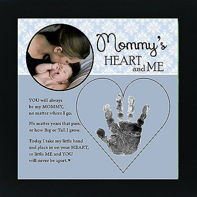 Baby Child Keepsake Handprint Frame with Poetry - Mommy, Daddy, Grandma or Mommy