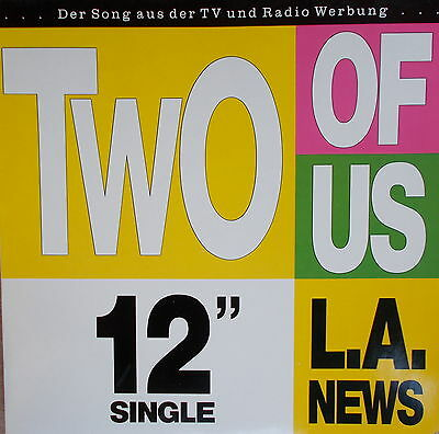 "MAXI 12""  L.A. News ‎– Two of Us ,MINT,Polydor ‎– 889 179-1 Germany 1989"