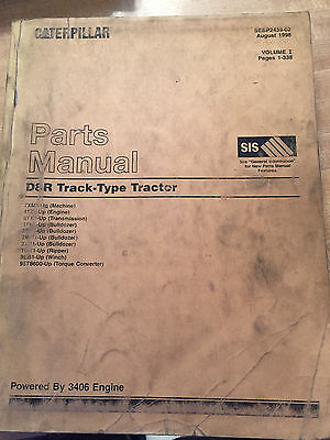 CAT Caterpillar D8R Track Type Tractor Parts Manual SN 7XM1-Up