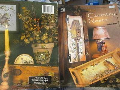 Country Nests Painting Book-Eads-Birdhouses & Nests/Americana, Harvest