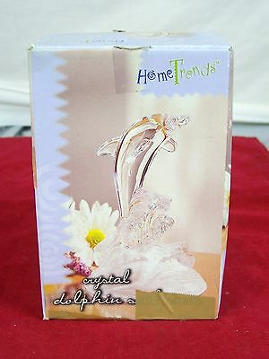 Home Trends Dolphin Sculpture Genuine Lead Crystal Decorative Collectible