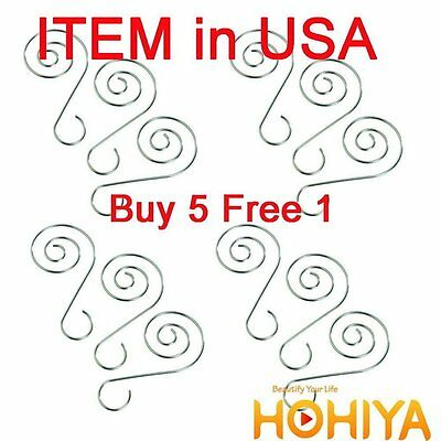 New 36pcs Silver Swirl Decorative Christmas Tree Ornament Hooks Hangers