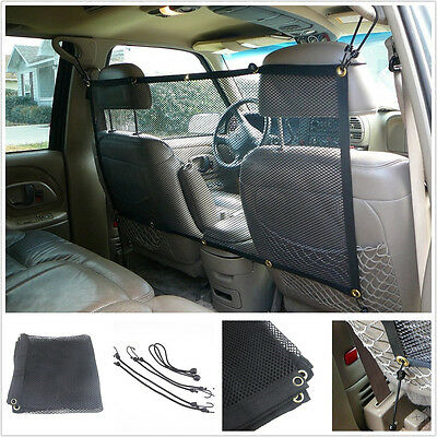 Black Nylon Vehicles Seat Back Pet Dogs Fencing Isolation Mesh Protector Barrier