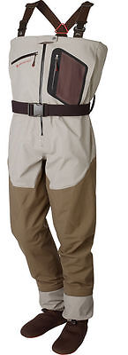 Size Large Redington Sonicdry Sonic Dry Fly Zip Front Breathable Fishing Waders