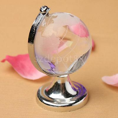 Crystal Ball Map Clear Globe Fengshui Vastu Paperweight gift home decor Map