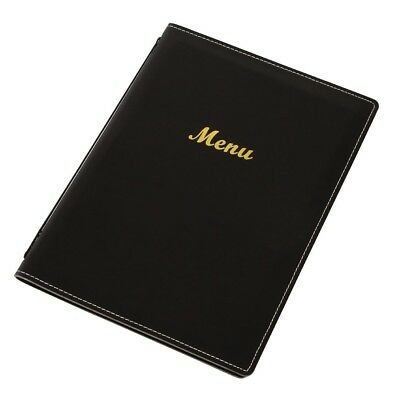 Olympia Leatherette Style Menu Holder A4 2 Card Cover