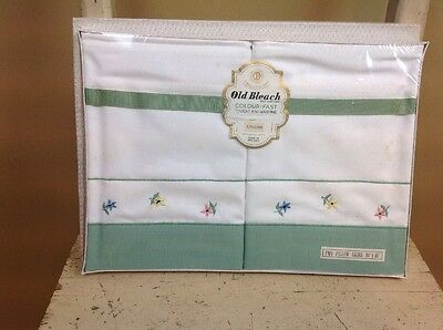 Vintage Old Bleach Pillow Cases New In Original Box