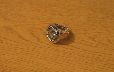 Staffordshire Bull Terrier Dog Statement Ring Rhodium-Plated Gift Mum Dad Gift