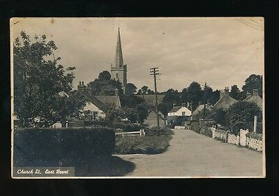 Somerset EAST BRENT Church St c1900/20s? RP PPC Faults