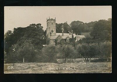 Somerset BRENT KNOLL Church Unposted c1900/20s? RP PPC by CP