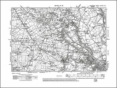 Old map of Southport 75SW repro Lancashire 1912