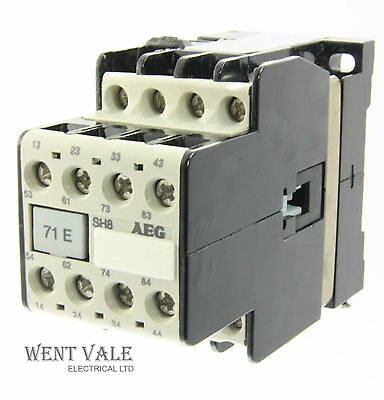 AEG SH8-71E-612-58 - 20a  Eight Pole Control Relay 110vac Coil Un-used