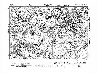 Old map of Radcliffe, Little Lever, Kearsley (N), Lancs 1909: 95NE repro