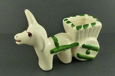 Vintage Rio Hondo Donkey w/ Cart Small Planter Toothpick Holder Figurine