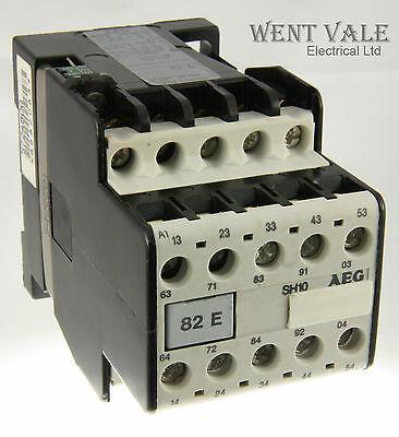 AEG SH10-82E-833-58 - 20a  Ten Pole Control Relay 110vac Coil Un-used