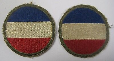 Vintage Lot of 2 WWII US Army GROUND FORCES Patches Shoulder Military Uniform