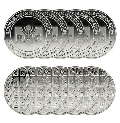 1 oz RMC Silver Round - (New, Lot of 10)